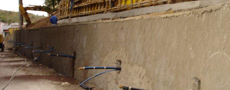 Construção da Estrutura de Estabilização do Talude junto à Bibioteca da Quinta do Mirante 6