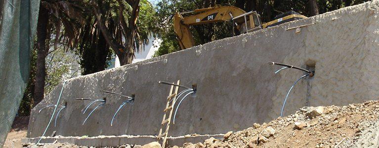 Construção da Estrutura de Estabilização do Talude junto à Bibioteca da Quinta do Mirante 8